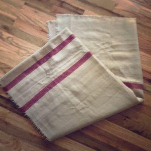 Zara Blanket Scarf tan/ cream/red plaidish print